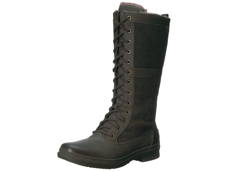 fa3174bf7e7 Ugg Australia Womens Elvia Leather Round Toe Mid-Calf Cold Weather Boots