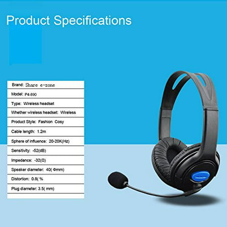 Gaming Headsets, Wired Gaming Headset Earphones Headphones With Microphone  Mic Stereo Super Bass for Gaming PS4 PC Laptop Gamer Mobile
