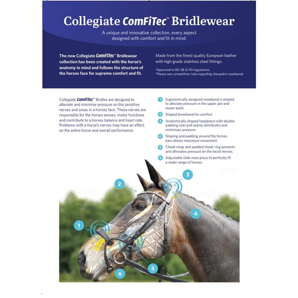 Collegiate Comfitec Patent Leather Bridle