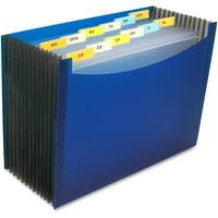 C-Line, CLI48235EA, 13-Pocket Expanding Files, 1 / Each, Blue
