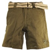 Beverly Hills Polo Club Little Boys' Olive Belted Flat Front Short
