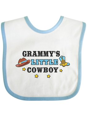 Grammys Little Cowboy with Cowboy Hat and Boots Baby Bib