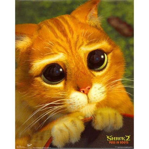 Shrek 2 Movie Poster Puss In Boots Cute Cat Face New 24x36 Walmart Com Walmart Com