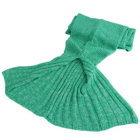 Super Soft Fluffy Hand Crocheted Mermaid Tail Blanket Sleeping Bagon