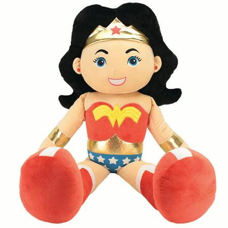 "DC Comics Justice League's Jumbo Plush Wonder Woman | 40"" Collectible Plush Wonder Woman Doll | 20"" x 17"" x 40"" Jumbo Plush | Made by Animal Adventure"