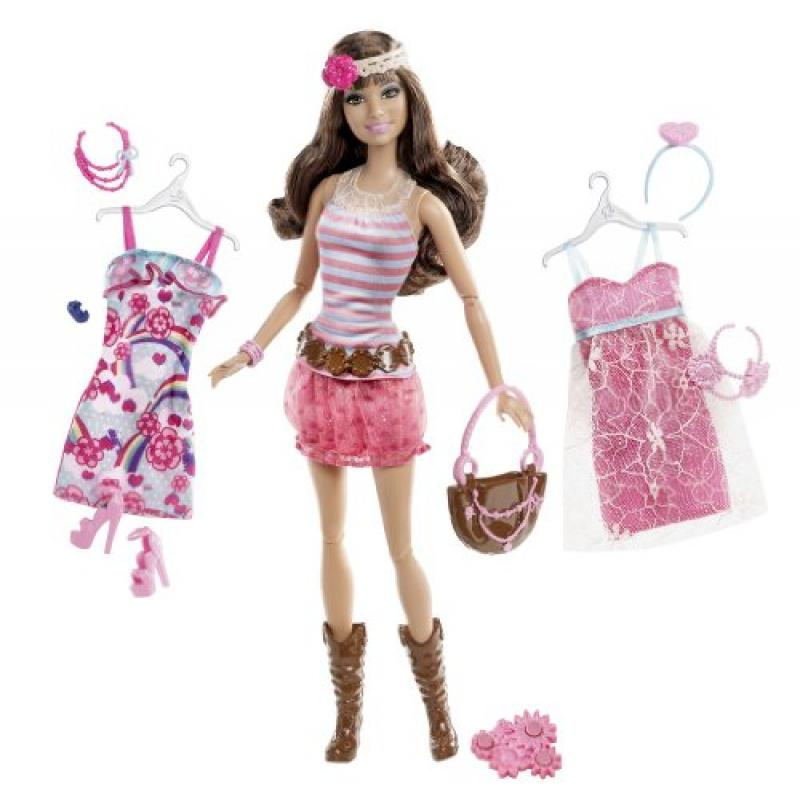 Barbie Fashionistas Teresa Ultimate Wardrobe Boho Chic Doll