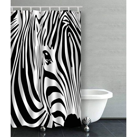 BSDHOME Abstract Zebra Face Art Funny Animal Bathroom Shower Curtain 48x72 inches - image 1 of 4