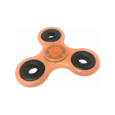 Fidget Spinner High Speed Orange Glow In The Dark Relief Toy - Orange Glow