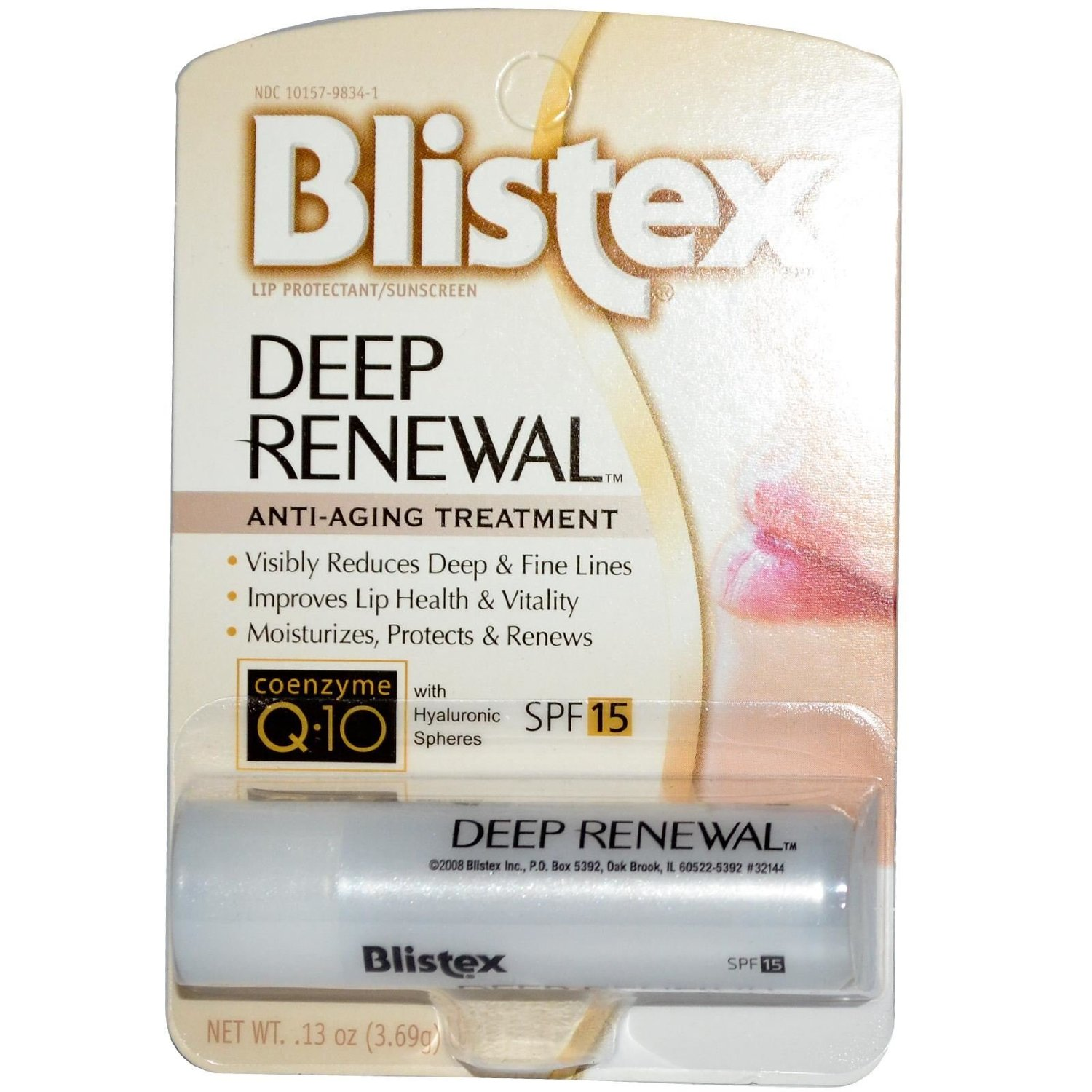 5 Pack Blistex Deep Renewal Lip Protectant, SPF 15 0.15 oz Each
