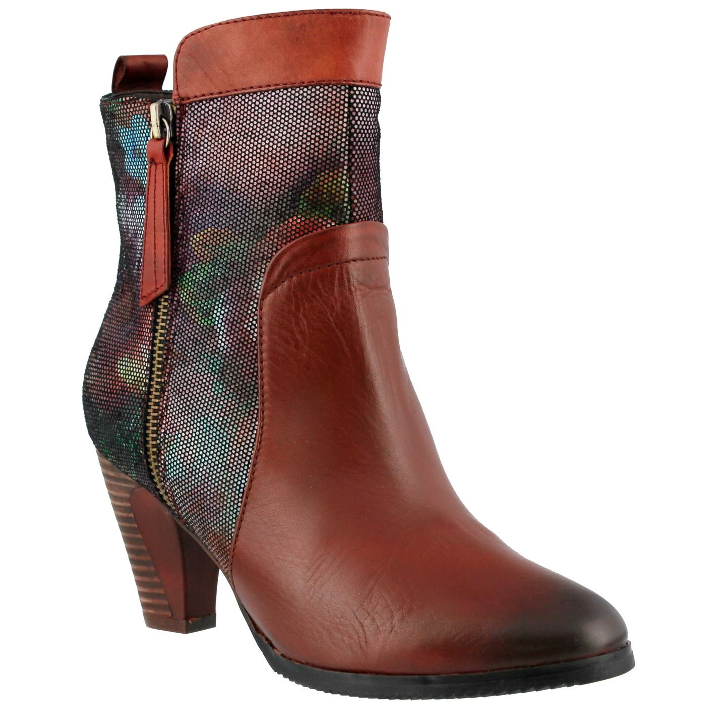 L'Artiste Moonlight By Spring Step Red Leather Boots 37 EU   7 US Women by Spring Step