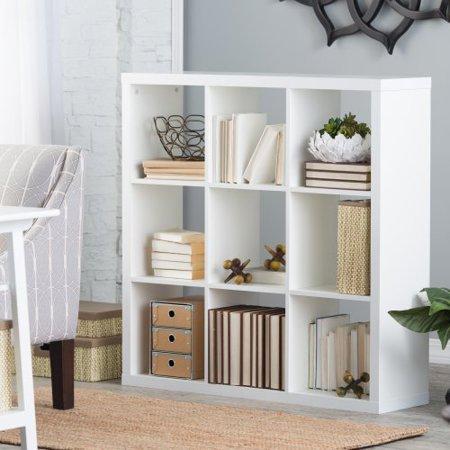Hudson 9 Cube Bookcase White