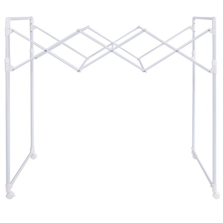 Gymax Heavy Duty Portable Folding Drying Rack Sheet Hanger Rolling Laundry Clothes - image 7 de 7