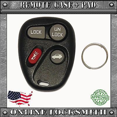 New Replacement Keyless Remote Key Fob Clicker Shell Case 4 Button Pad Fix Kit 4 Button Pad