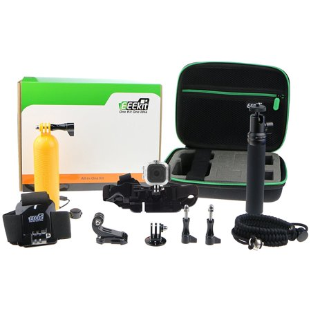 eeekit accessories kit for gopro hero 5 4 session waterproof housing case flo. Black Bedroom Furniture Sets. Home Design Ideas