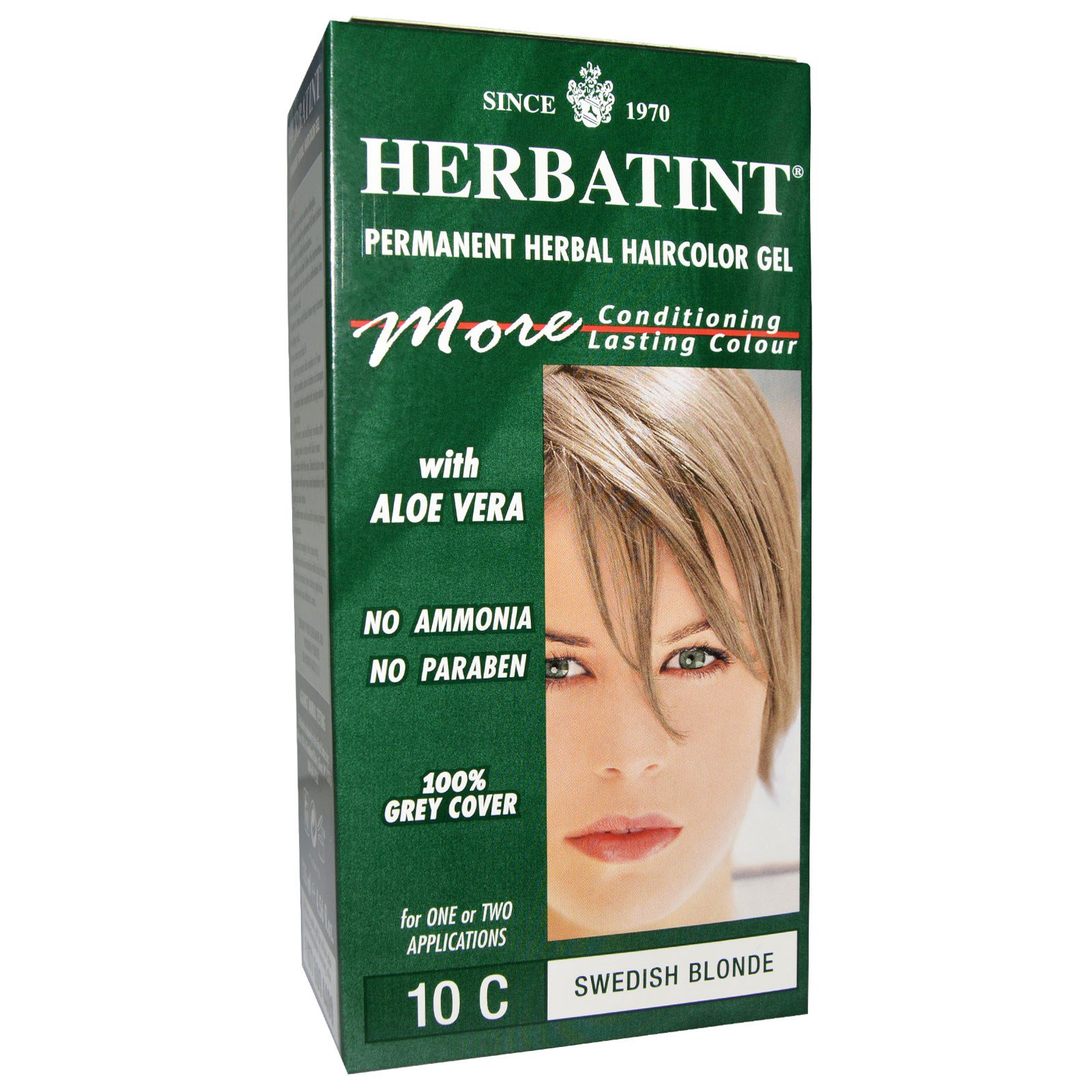Herbatint Permanent Herbal Haircolor Gel 10c Swedish Blonde 456