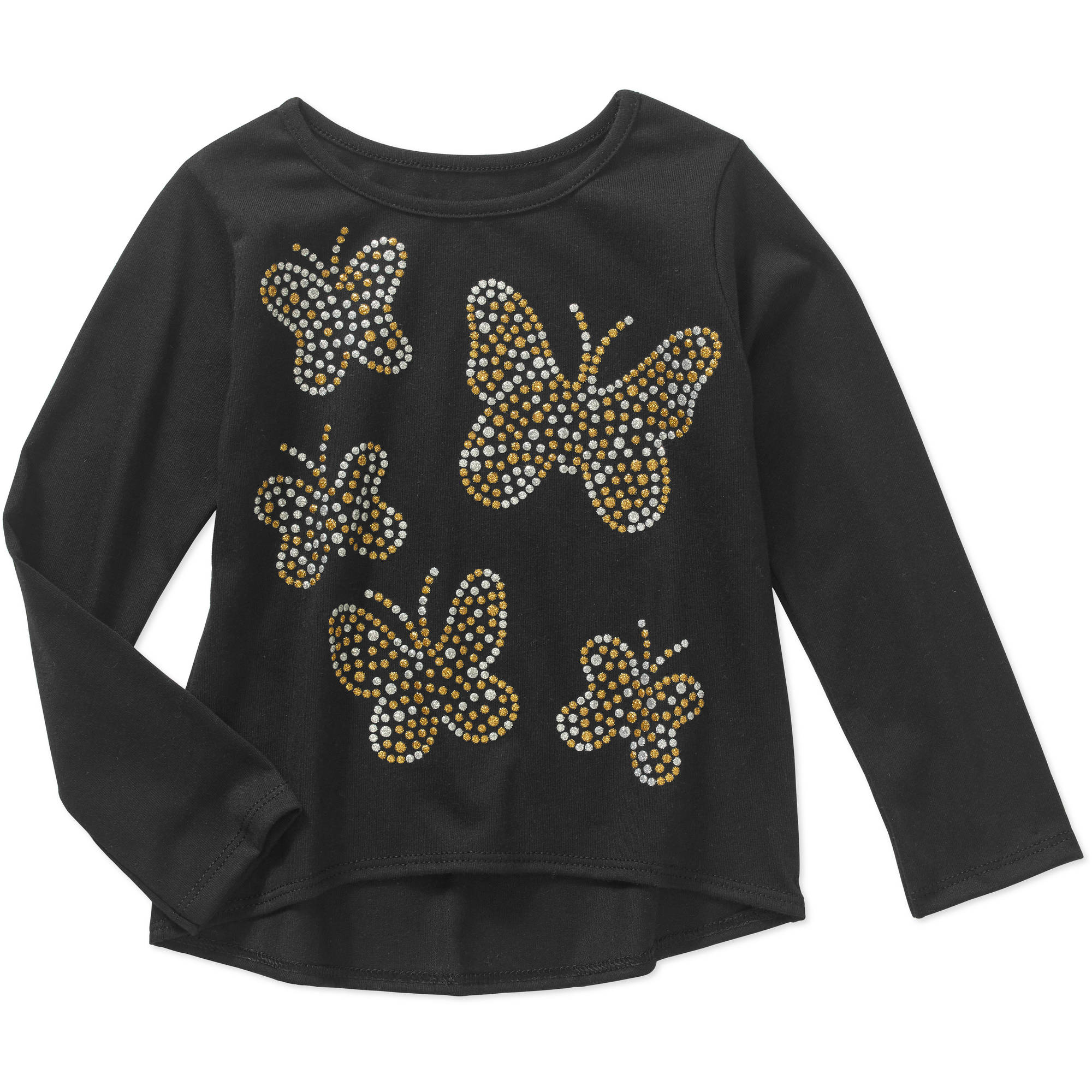 Garanimals Baby Toddler Girls' Long Sleeve Graphic Hi-Lo Tee