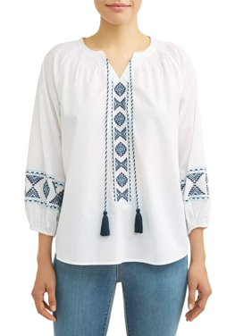 4a13bb1ca2d75 Product Image Women s Embroidered Smock Neck Top