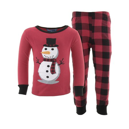 Dead Tired Boys Snowman Red Cotton Pajamas (Pajama Set Snowman)