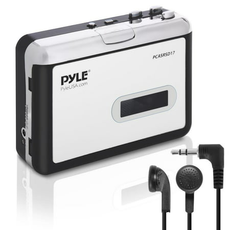 PYLE PCASRSD17 - Cassette Player with MP3 Converter Recorder - Tape Audio Digitizer Tape Players Recorders