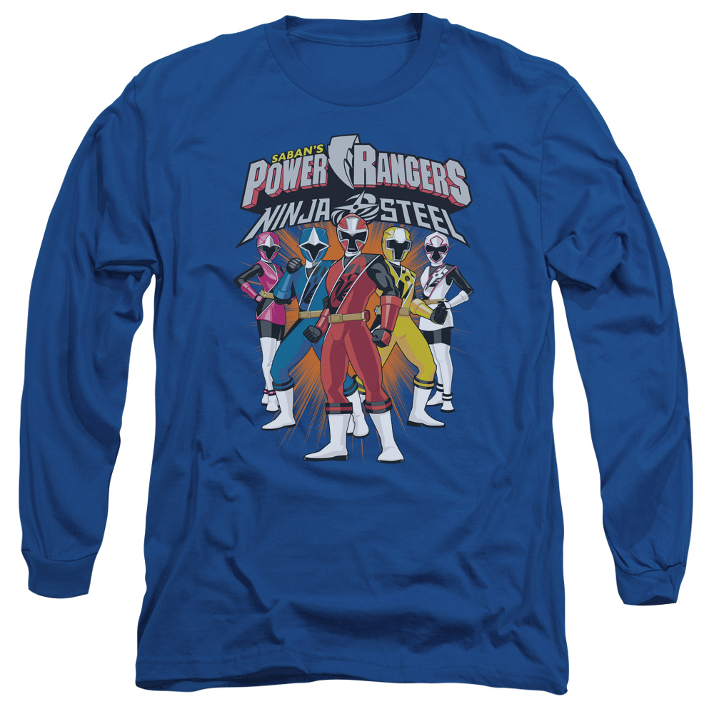 Power Rangers Team Lineup Mens Long Sleeve Shirt