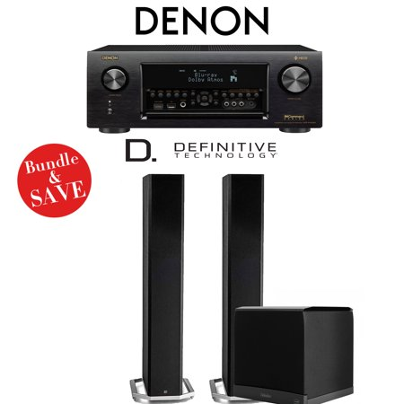 Denon AVR-X4400H 9 2-Channel 4K Network AV Receiver + Definitive Technology  BP9060 + Definitive Technology SuperCube6000 - 2 1-Ch Home Theater Package