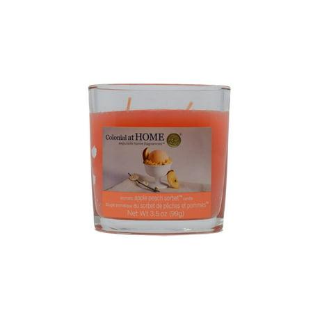 Colonial Candles Apple Peach Sorbet CH0035-984 Apple Peach Sorbet 3.5 oz Scented Jar