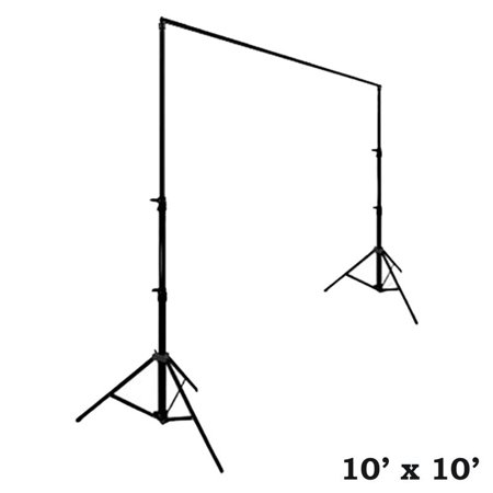 Photo Booth Wedding (BalsaCircle Black 10 ft x 10 ft Photo Backdrop Stand Kit - Studio Background - Wedding Party Photo Booth Studio)