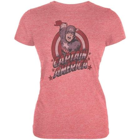 Captain America - Cap Red Juniors T-Shirt