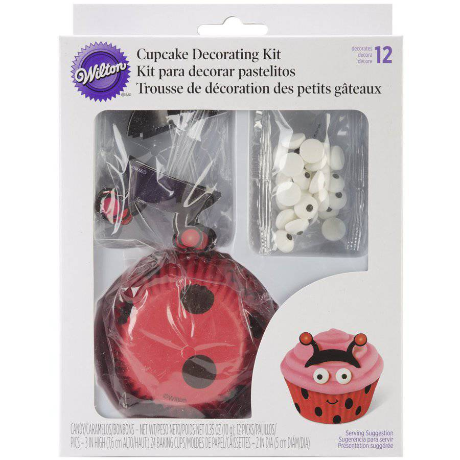 Wilton Cupcake Decorating Kit, Ladybug 24 ct. 415-0685