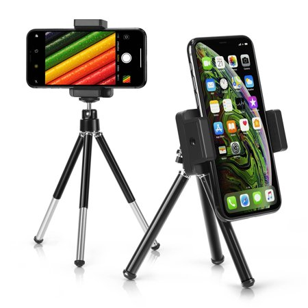super popular 1791b 62cd2 Insten Phone Tripod Stand for iPhone Mini Small Portable Tripod, 360 degree  Ball, Phone Holder for Smartphone Selfie Universal Samsung Galaxy S9 S8 S7  ...