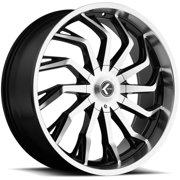 "Kraze KR142 Scrilla 26x10 5x5""/5x5.5"" +18mm Black/Machined Wheel Rim 26"" Inch"