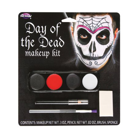 Male Day Of The Dead Makeup Kit Adult Halloween Accessory - Best Makeup To Use For Halloween