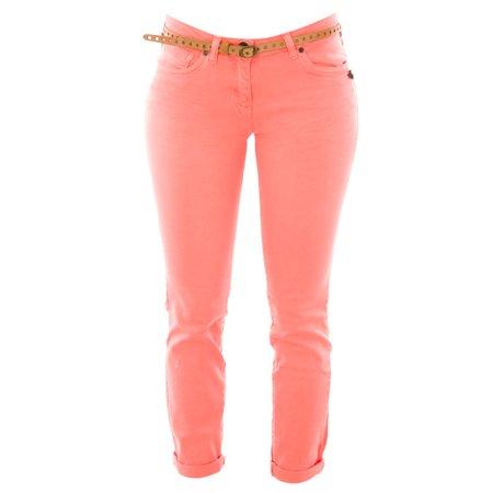 Belted Print Jeans - Scotch & Soda Maison Scotch Women's Belted Skinny Jeans