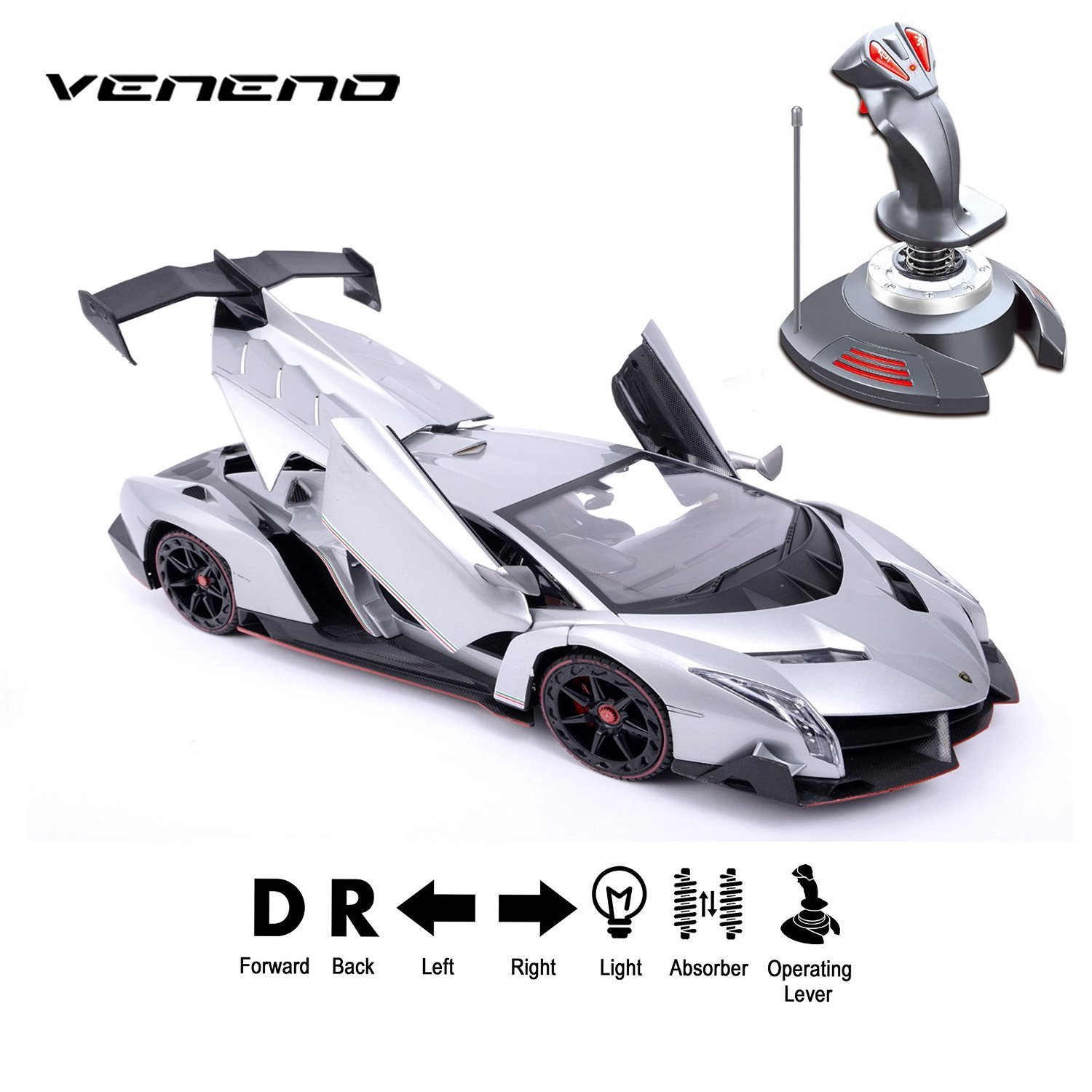 FMT Lamborghini Veneno 1 14 Scale, Gravity Sensor Radio Control Vehicle Model Car RC by