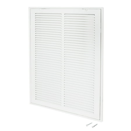 EZ-FLO 14u0022 x 20u0022 Return Filter Grille, White