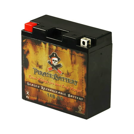 Warrior Battery (YT14B-BS Motorcycle Battery for Yamaha 1700cc XV1700P Road Star Warrior 2005)