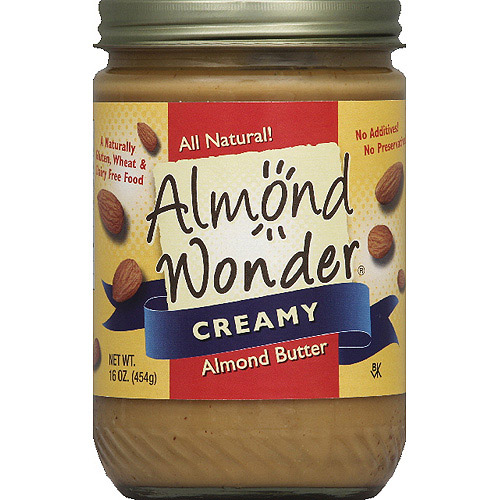 Almond Wonder Creamy Almond Butter, 16 oz, (Pack of 12)