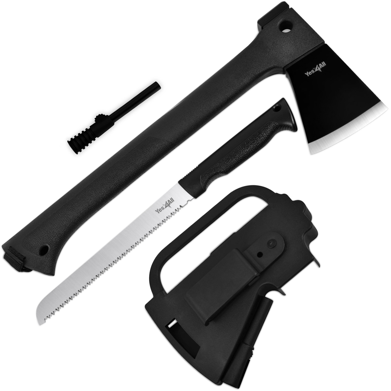 Yes4All Multi Functional Camping Axe H307 with Saw + Fire Starter