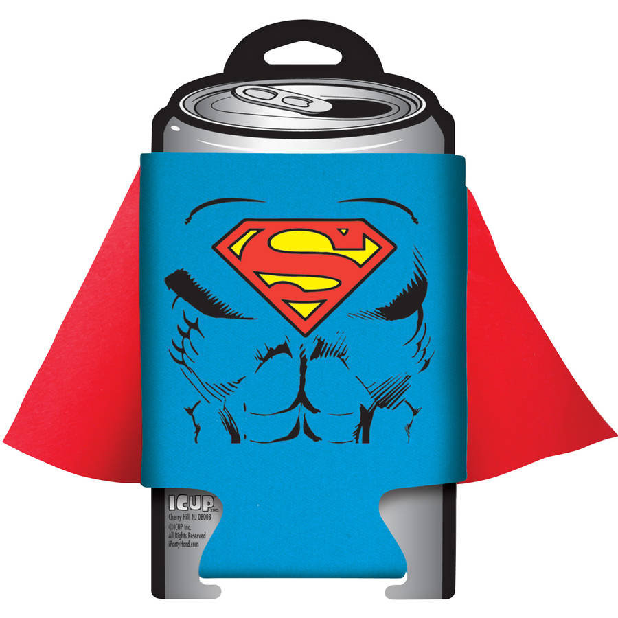 DC Comics Superman Red Caped Can Cooler