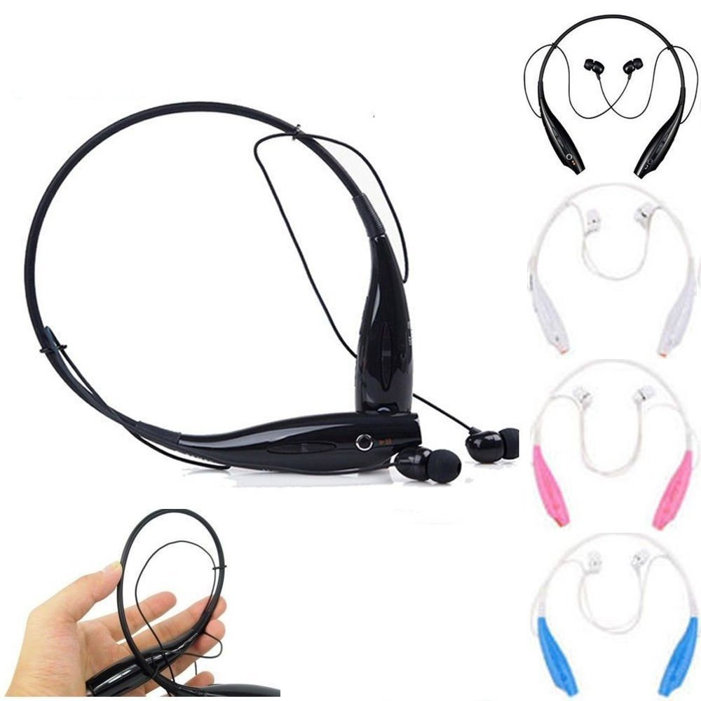 CyberTech Wireless Bluetooth Stereo Earphone Headset with Mic for Apple iPhone 6 5 S LG Samsung(Black)