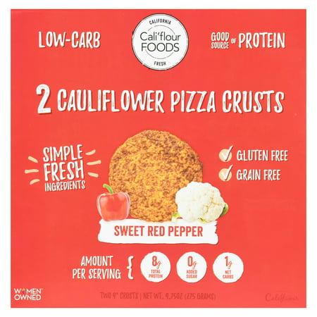 Cali'flour Foods Gluten Free, Low Carb Cauliflower Original Italian Pizza Crusts - 1 Box - (2 Total Crusts Per