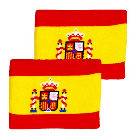 Unique Sports Flag Wristbands - Spain (Wristband In Spanish)