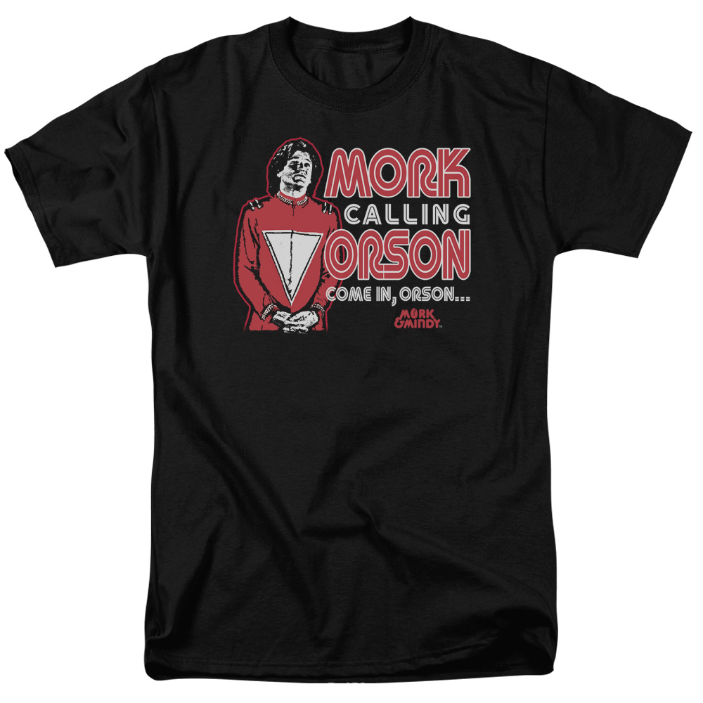 MORK & MINDY/MORK CALLING ORSON - S/S ADULT 18/1 - BLACK - MD