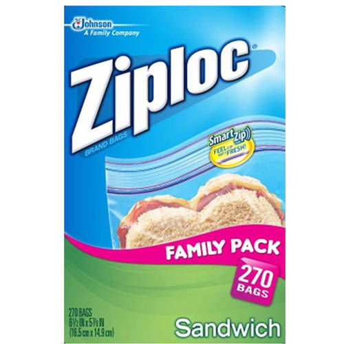 Ziploc Pinch and Seal Sandwich Bags, 270 Ct