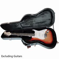 Glarry ST High Grade Electric Guitar Hard Case Microgroove Flat Surface Straight Flange Black