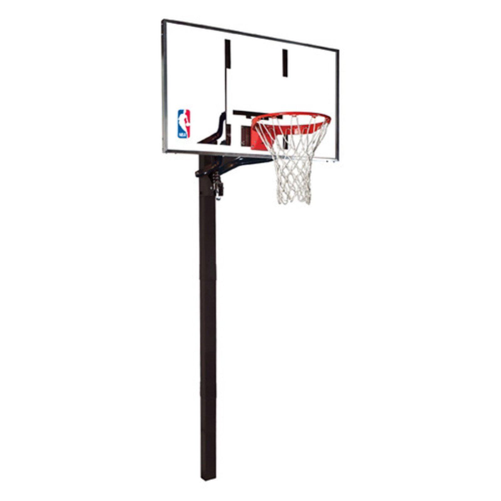 "Spalding NBA 54"" Glass U-Turn In-Ground Hoop System"