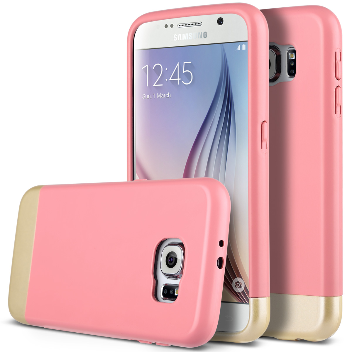 ULAK Galaxy S6 Case, Hybrid Slider Style Hard Case with Soft TPU Interior & Vibrant Trendy Color for Samsung Galaxy S6