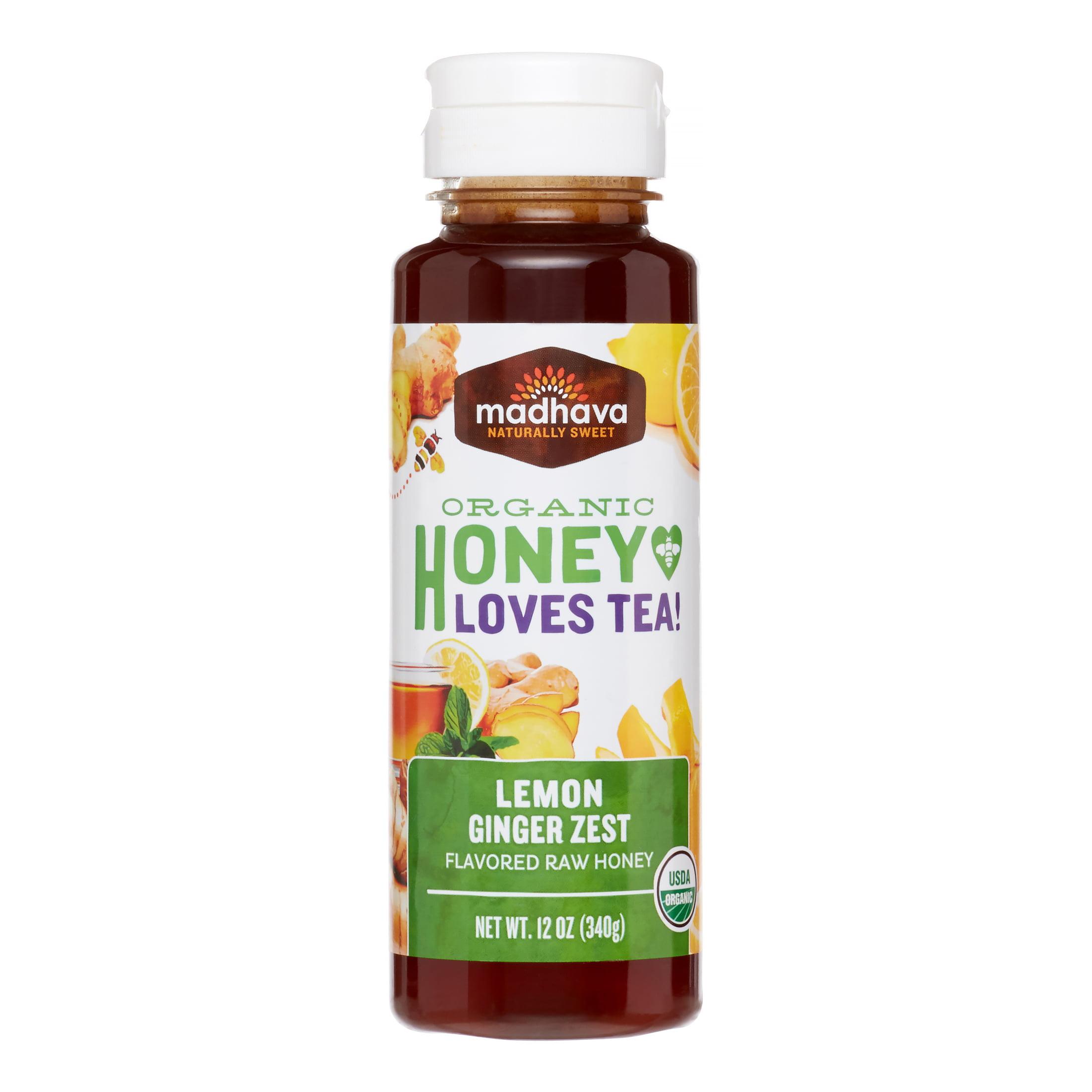 Madhava Organic Honey Lemon Ginger Zest by Madhava Honey