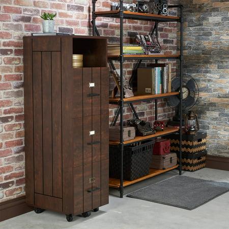 Furniture of America Gen Rustic Style File Cabinet, Vintage Walnut ()
