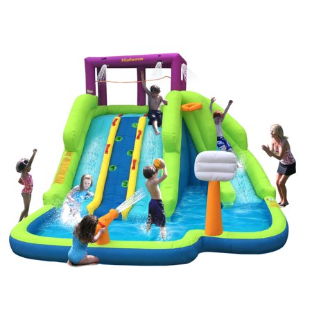 Kahuna Triple Blast Outdoor Inflatable Splash Pool Backyard Water Slide 90360